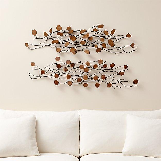 Set of 2 Teakroot Discs Wall Art