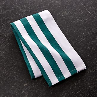 Teal Stripe Dish Towel