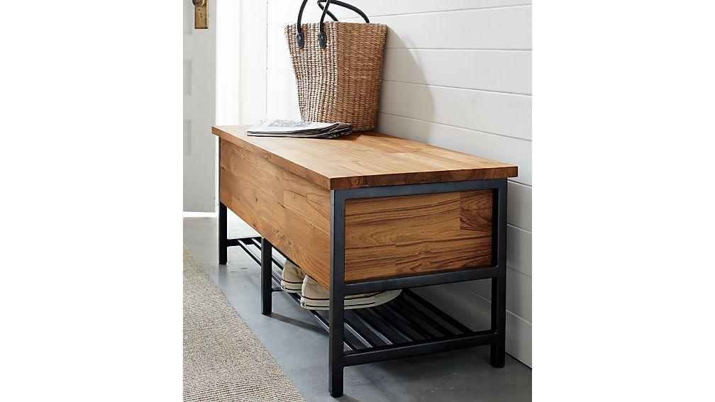 Teca Storage Trunk-Bench