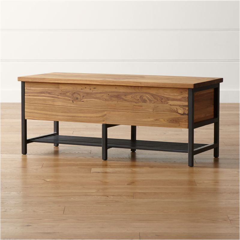 Teca Storage Trunk Bench Crate And Barrel