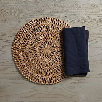 Tempe Placemat and Helena Indigo Napkin