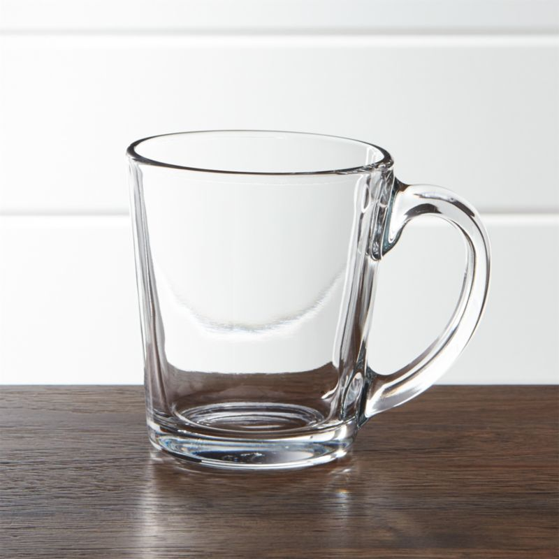 Tempo Clear Glass Coffee Mug