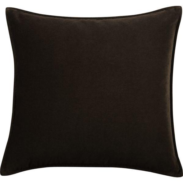 "Tempo Velvet Chocolate 20"" sq. Pillow"