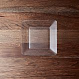Tempo Square Clear Glass Appetizer Plate