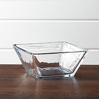 Tempo Square Clear Glass Cereal Bowl