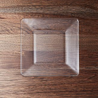 Tempo Square Clear Glass Salad Plate