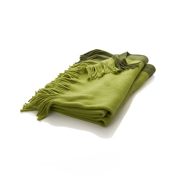 Tepi Green Throw