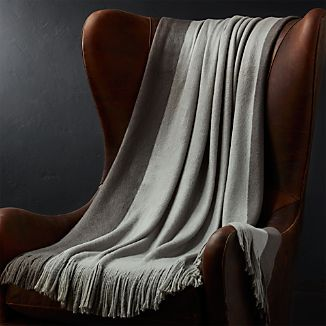 Tepi Grey Striped Throw