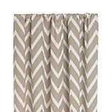 "Teramo Neutral Chevron 50""x84"" Curtain Panel"