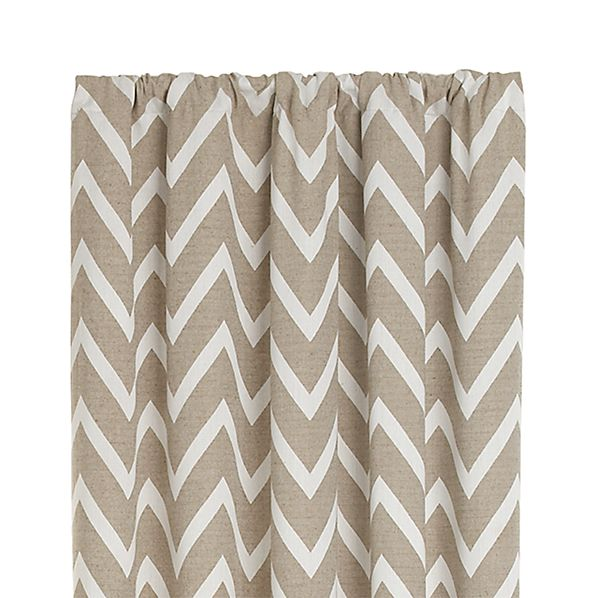 "Teramo 50""x108"" Neutral Chevron Curtain Panel"
