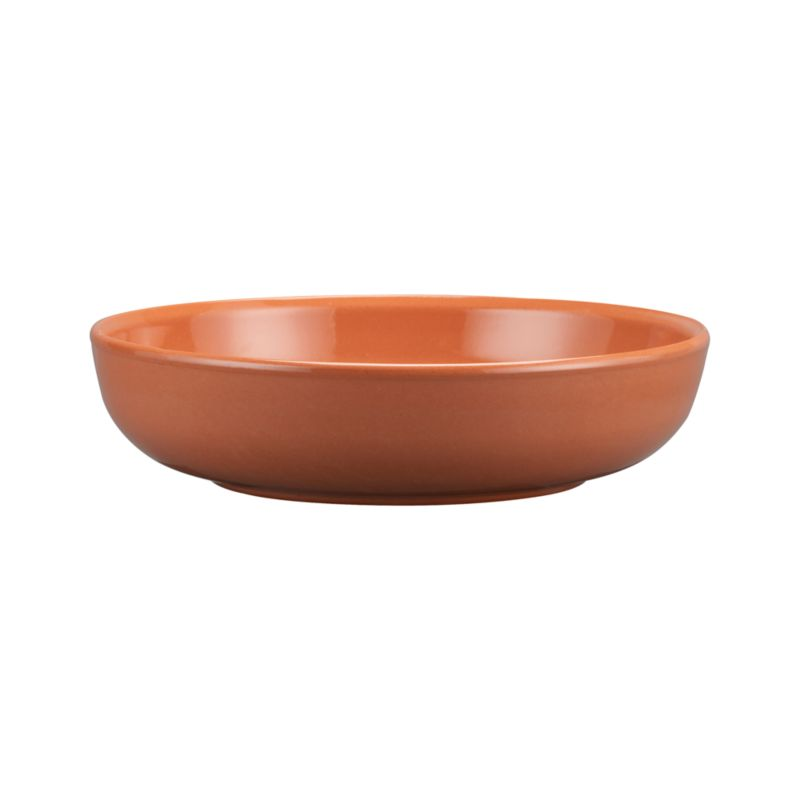Crafted of red clay and fully glazed, the time-honored design of these warm serving pieces recall traditional Spanish ceramics, adding rustic, Old-World charm to table or buffet. Clean-lined low bowl serves chips, snacks and salads.<br /><br /><NEWTAG/><ul><li>High-fired earthenware</li><li>Dishwasher-, microwave- and freezer-safe</li><li>Not oven-safe</li><li>Made in Spain</li></ul>