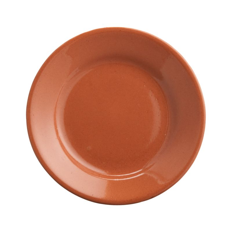 Crafted of red clay and fully glazed, the time-honored design of these warm serving pieces recall traditional Spanish ceramics, adding rustic, Old-World charm to table or buffet. Clean-lined small plate serves olives and other small nibbles.<br /><br /><NEWTAG/><ul><li>High-fired earthenware</li><li>Dishwasher-, microwave- and freezer-safe</li><li>Not oven-safe</li><li>Made in Spain</li></ul>