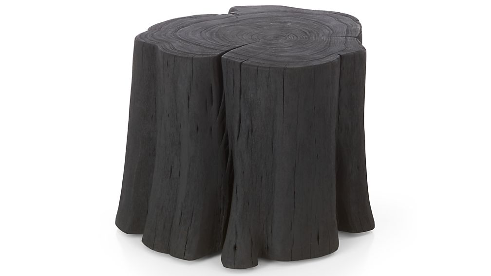 Teton Charred Black Solid Wood Accent Table Crate And Barrel