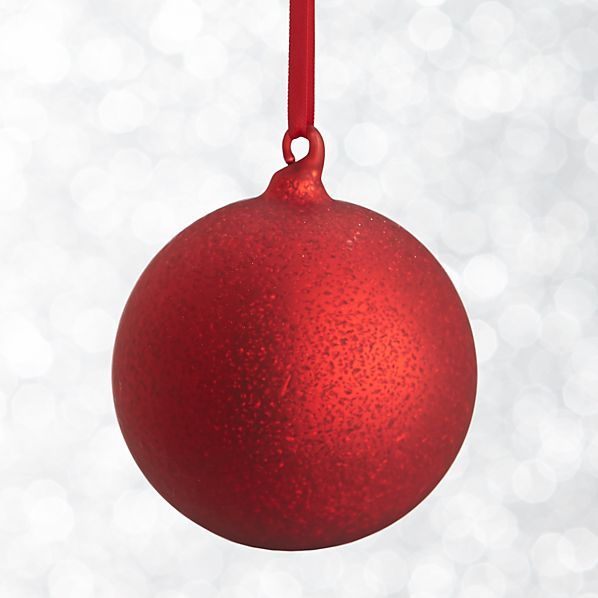 Red Textured Ball Ornament