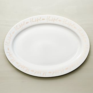 Thankful Oval Turkey Platter