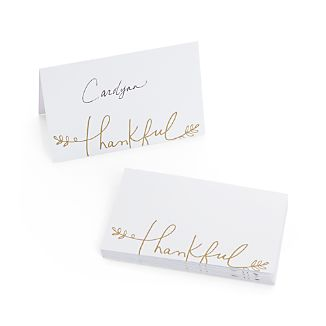 Set of 12 Thankful Place Cards