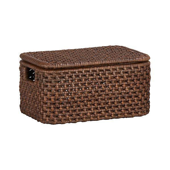 Thatcher Small Lidded Basket