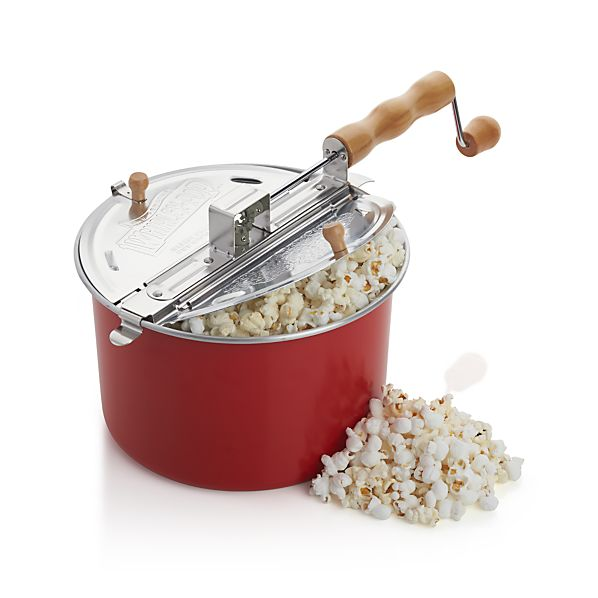 Stovetop Popcorn Popper Red In Specialty Cookware Crate