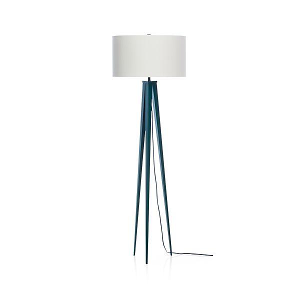 Theo Blue Floor Lamp