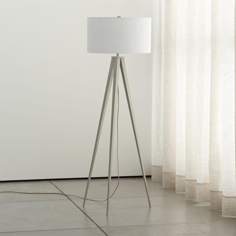 theo grey floor lamp crate and barrel. Black Bedroom Furniture Sets. Home Design Ideas