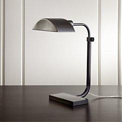 Theorem Patina Bronze Desk Lamp