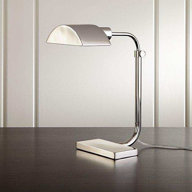 Theorem Polished Nickel Desk Lamp