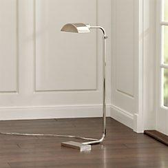 Theorem Polished Nickel Floor Lamp