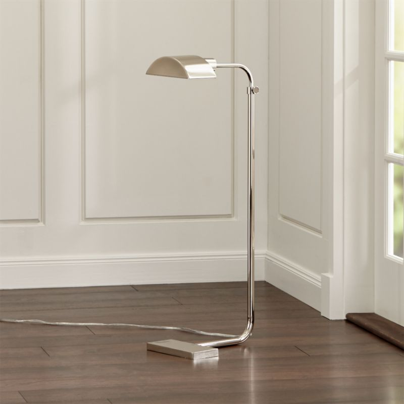 Theorem Polished Nickel Floor Lamp