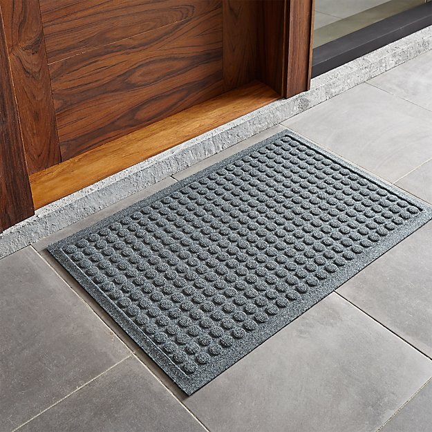 Thirsty Dots Grey Doormat Crate And Barrel