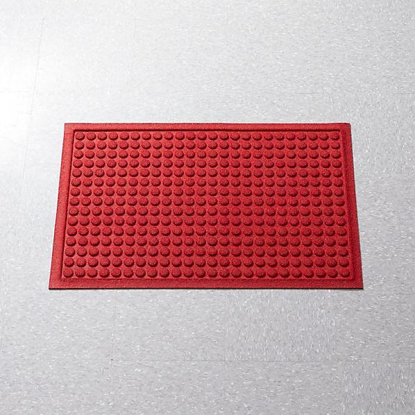 "Thirsty Dots ™ Red 24""x36"" Doormat"