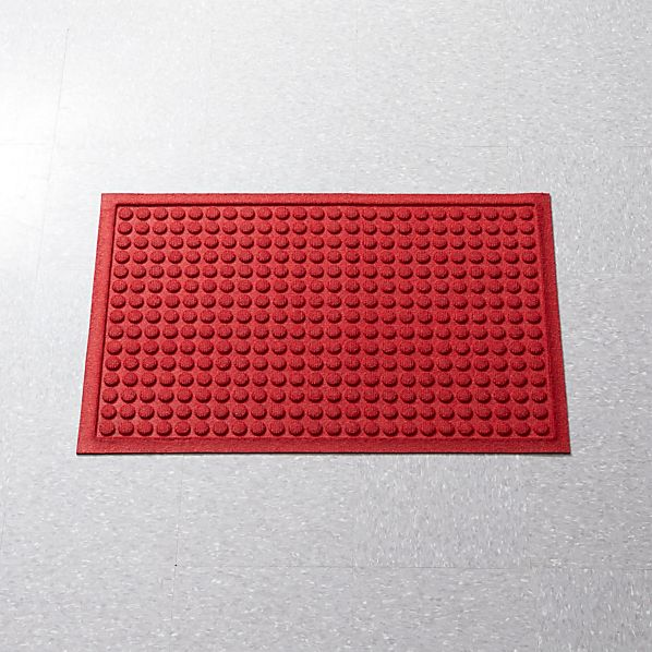 "Thirsty Dots ™ Red 24""x36"" Doormat"