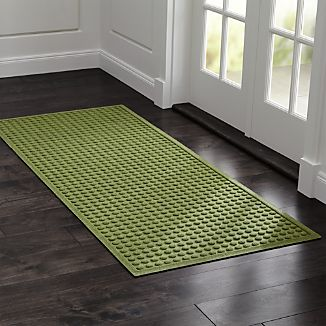 "Thirsty Dots ™ Green 30""x71"" Doormat"