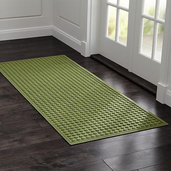 """Thirsty Dots ™ Green 30""""x71"""" Doormat In Door Mats"""