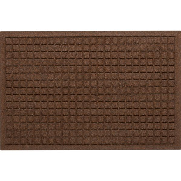 "Thirsty Squares ® Brown 22""x34"" Mat"