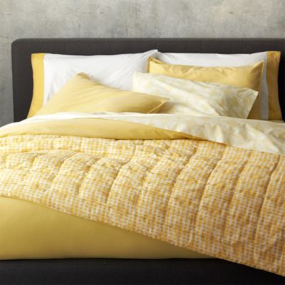 Tiago Stonewash Yellow Full/Queen Duvet Cover