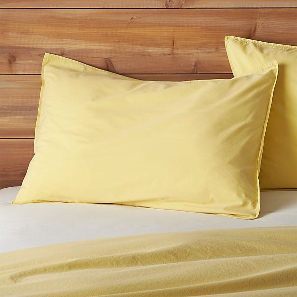 Tiago Stonewash Yellow Standard Sham