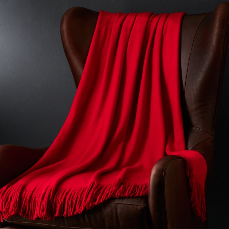 Tidings Red Throw