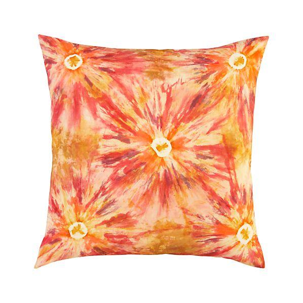 """Tie Dye 23"""" Pillow"""