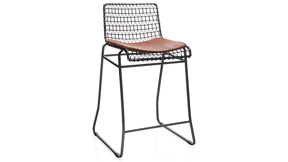 Tig Counter Bar Stool Leather Cushion Crate And Barrel