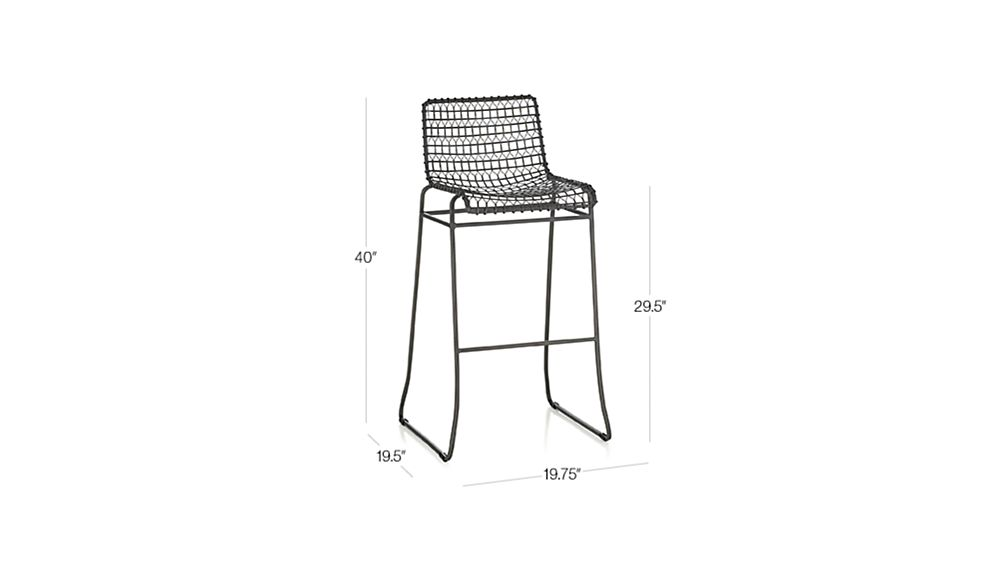 Tig Metal Bar Stool Crate And Barrel