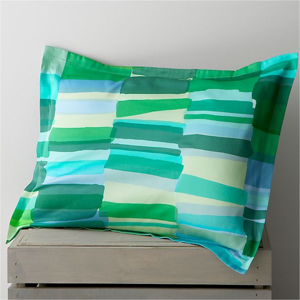 Marimekko Tilkkula Seaglass Standard Pillow Sham