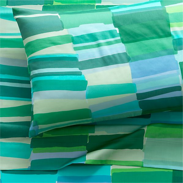Marimekko Tilkkula Seaglass Twin Extra Long Sheet Set