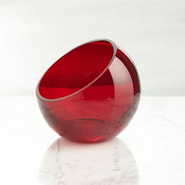 """Tilt Red 5.5"""" Bowl"""