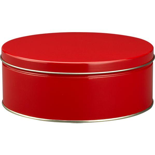 Large Red Tin