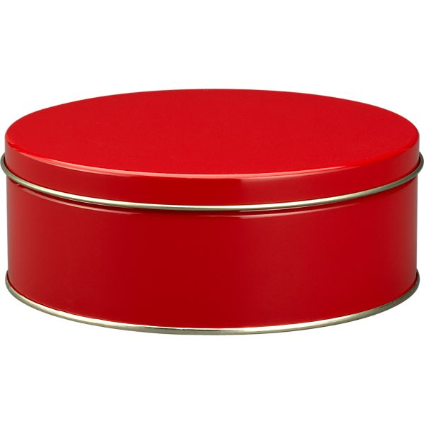 Small Red Tin