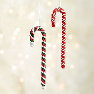 Tinsel Candy Cane Ornaments