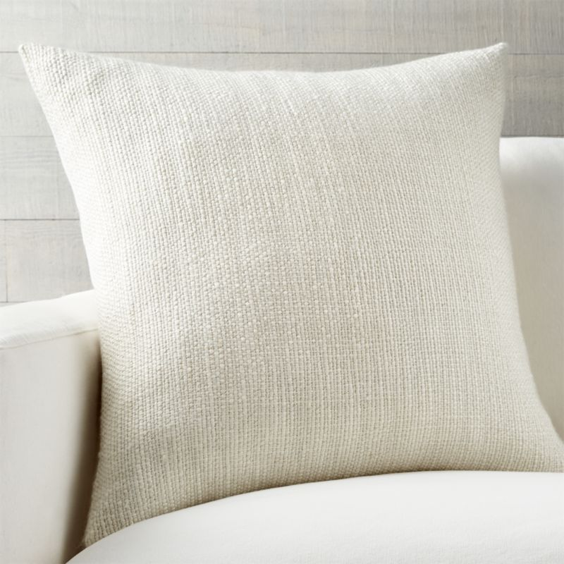 "Tinsel 23"" Pillow with Feather-Down Insert"
