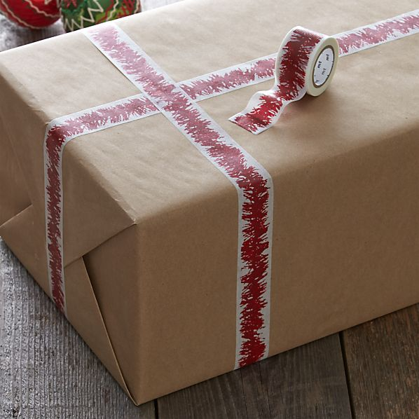 Red and White Tinsel Tape