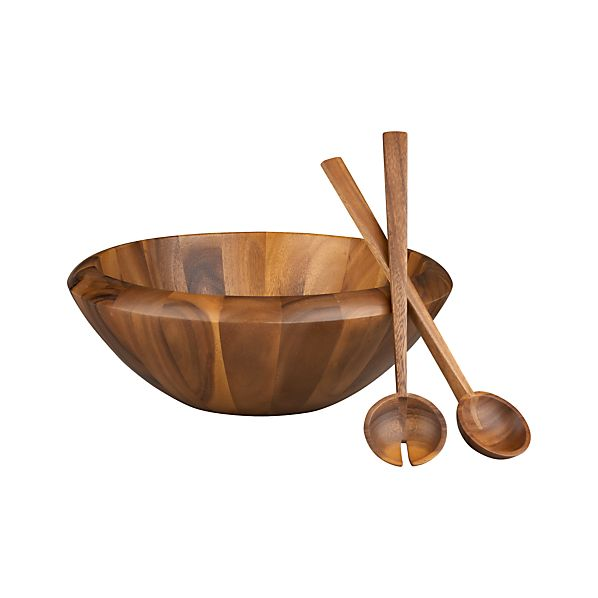 "3-Piece Tjorn 17"" Serving Bowl and 14"" Servers Set"