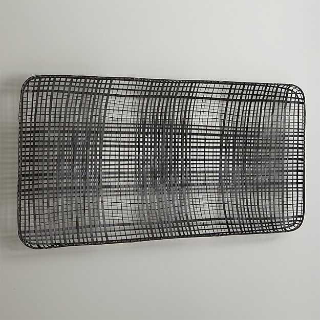 Tobacco Basket Metal Wall Art Crate And Barrel